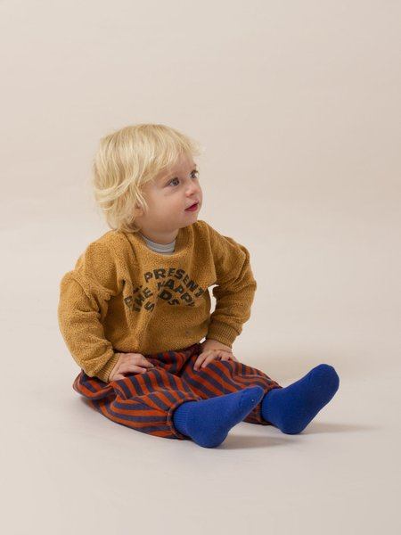 Kids Bobo Choses The Happy Sads Sheepskin Fleece Baby Sweatshirt - Tan