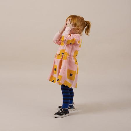 KIDS Bobo Choses Baby Princess Dress - Pink With Yellow Squares