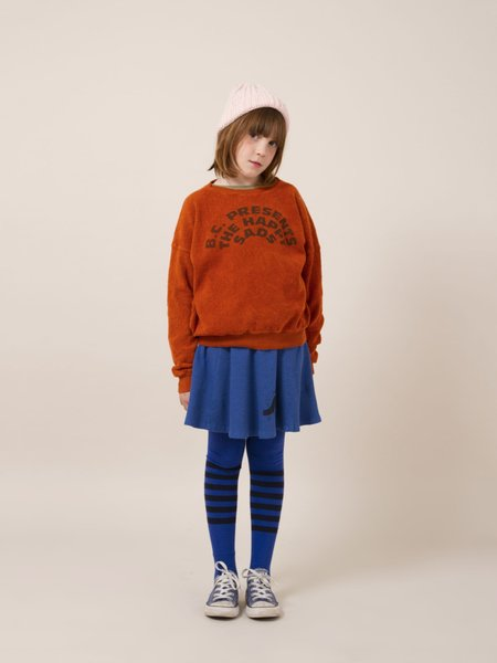 Kids Bobo Choses The Happy Sads Sheepskin Fleece Sweatshirt - Brick