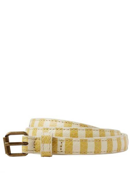 Maison Scotch Stripe Belt - Yellow/white