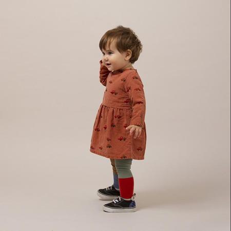 KIDS Bobo Choses Baby Princess Dress - Brown With Cars