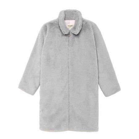 kids Bobo Choses Faux Fur Coat - Grey