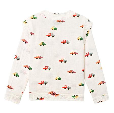 kids Bobo Choses Long Sleeved Blouse - White with Cars