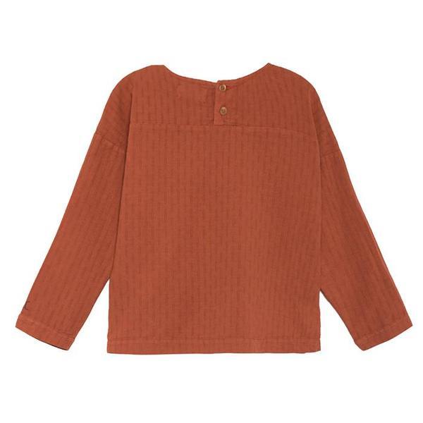kids Bobo Choses Long Sleeved Bitter Sweet Shirt - Brown