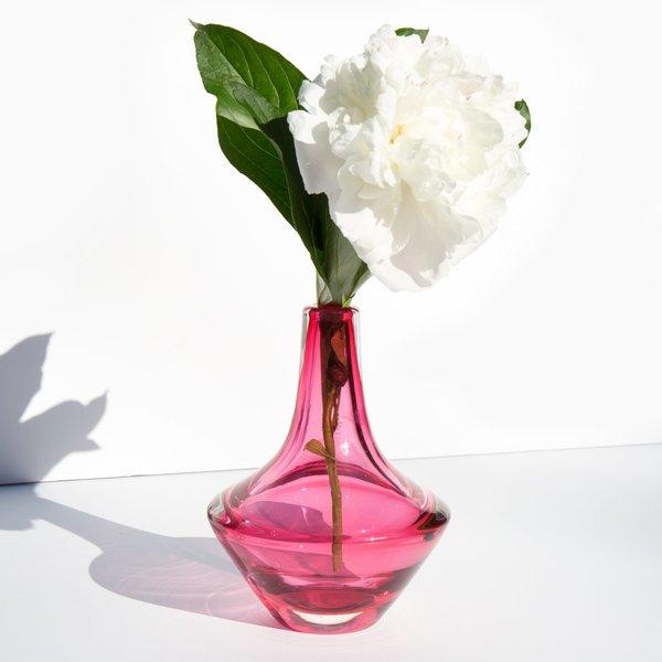 Vintage Kindred Black Mid Century Glass Vase Cranberry Garmentory