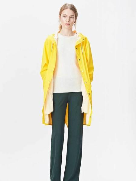 Unisex Rains Long Jacket - Yellow
