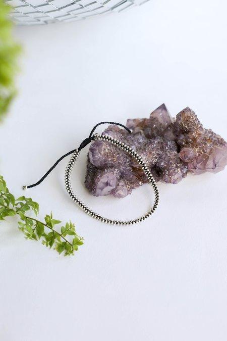 Tai Adjustable Handmade Zipper Style Beaded Bracelet - SILVER