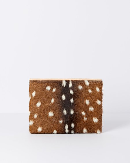Brother Vellies Wallflower Pouch - Axis Deer