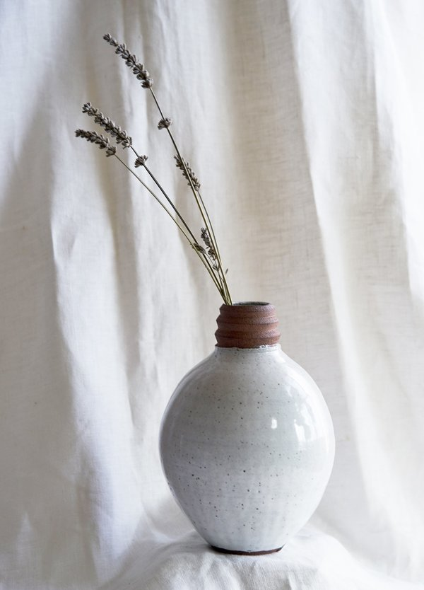 A Question of Eagles Orb Vase - white