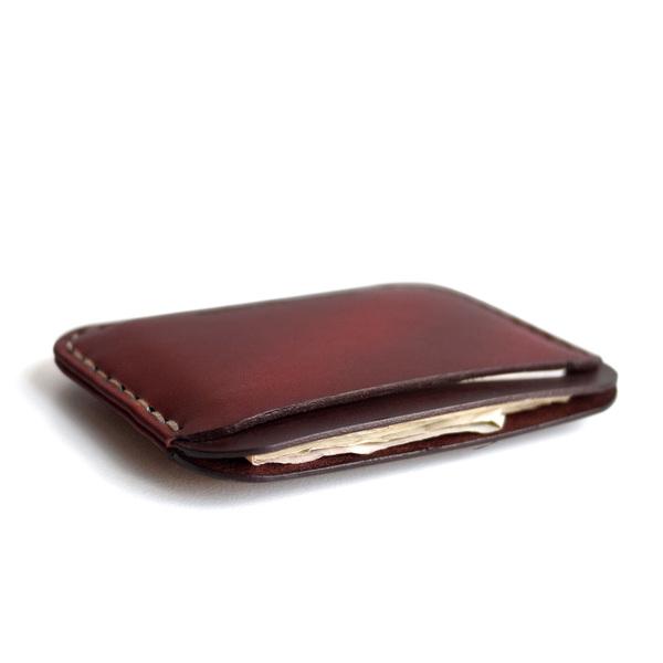 MAKR Round Wallet - OXBLOOD