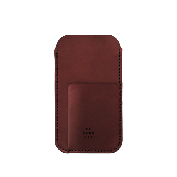 MAKR iPhone 6/7/8 with Card Sleeve - Oxblood