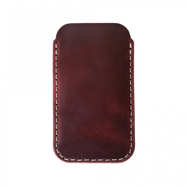 MAKR iPhone SE Card Sleeve - Oxblood