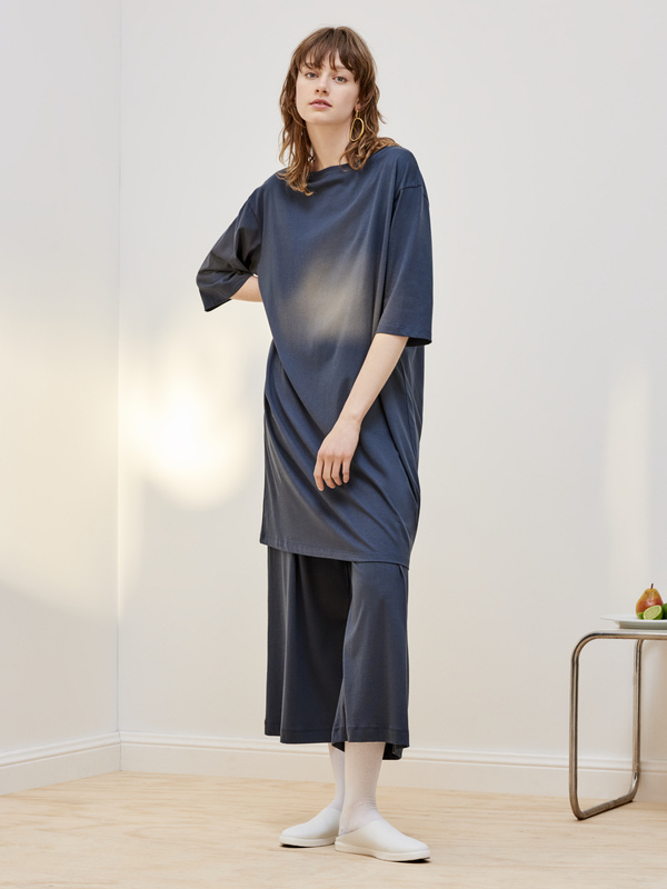 Kowtow Building Block Relaxed Boat Neck Dress