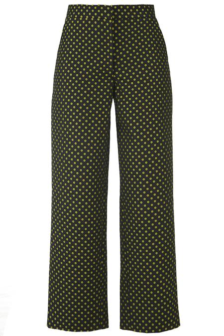 N-DUO pants - Black/khaki dots