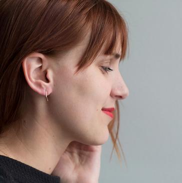 OneSixFive The Angled Bar Earrings