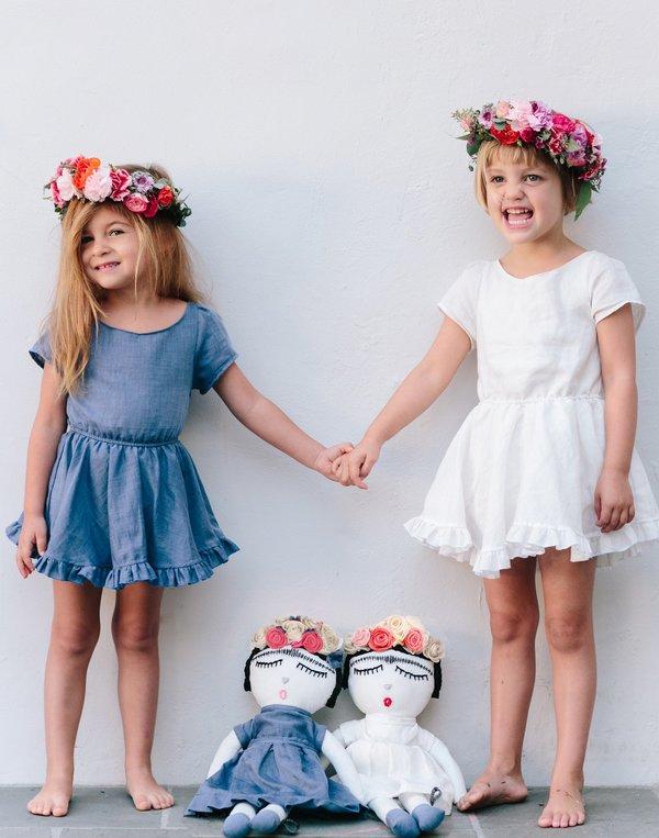 Kids Maroma + Arte Frida Kahlo Doll - Ivory Little Minis Dress