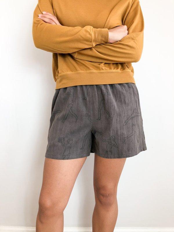 PO-EM Villa Kashish Shorts - Gray on Garmentory