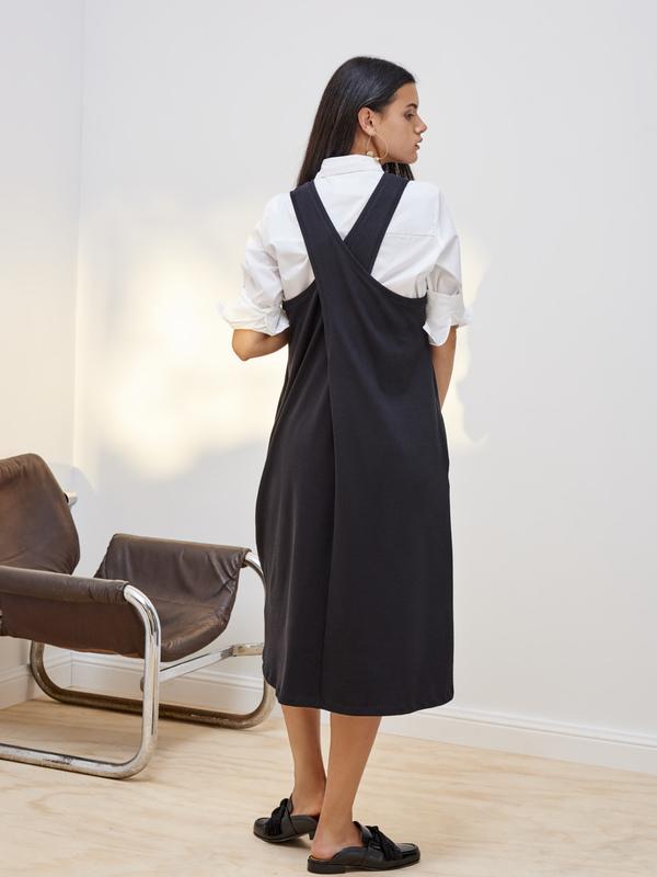 Kowtow Building Block Twist Back Dress