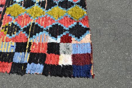 Vintage Siku Store Boucherouite Rug
