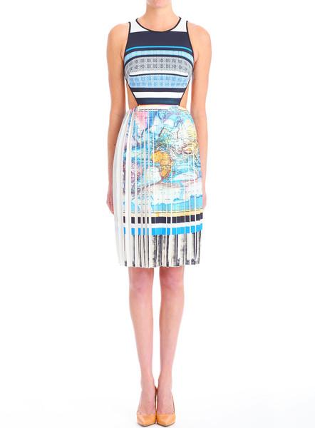 Clover Canyon Ancient World Map Dress