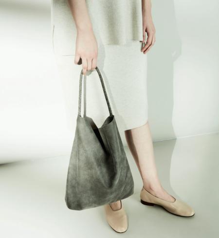 Stuf Fugue Leather Bag - Gray