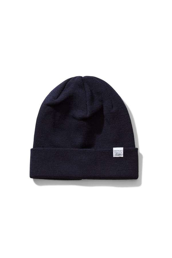 19ab93dd65a Norse Projects Top Beanie - Dark Navy