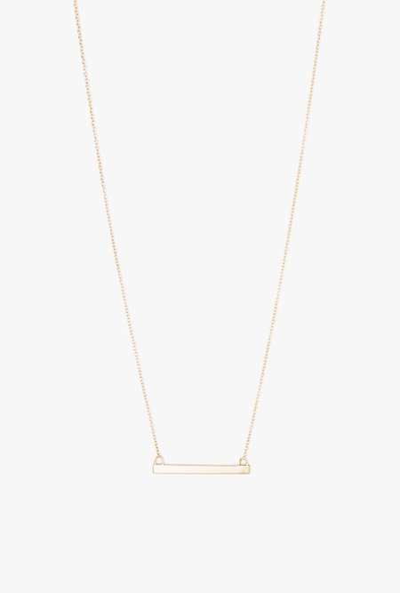 Loren Stewart Baby Bar Necklace - 14k Gold