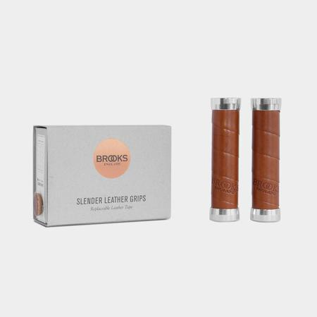 Brooks England Slender Leather Grips - Honey