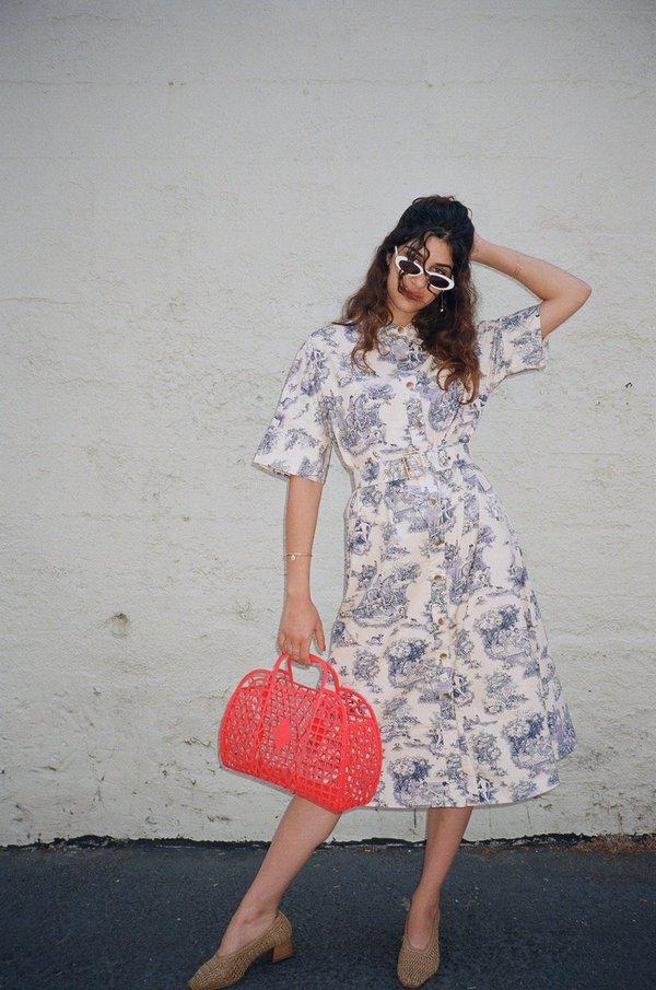 3bc3a25f7b5a Rachel Antonoff Benay Shirt Dress - Manhunt Toile
