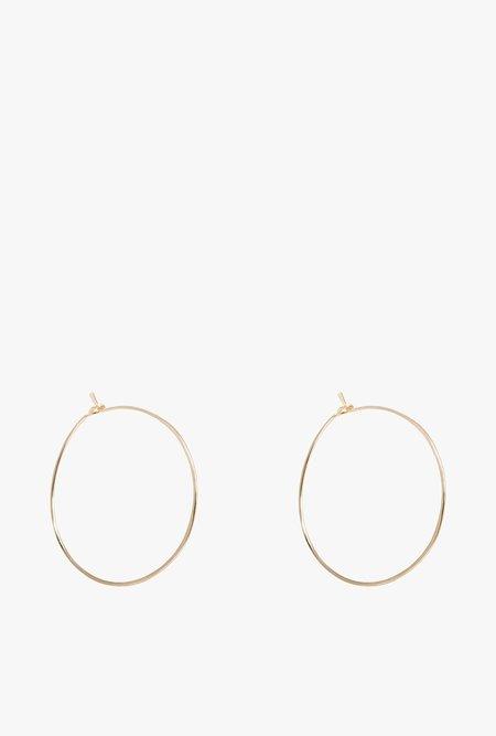 Circadian Studios Small Floating Hoop Earrings - 14k Gold Filled