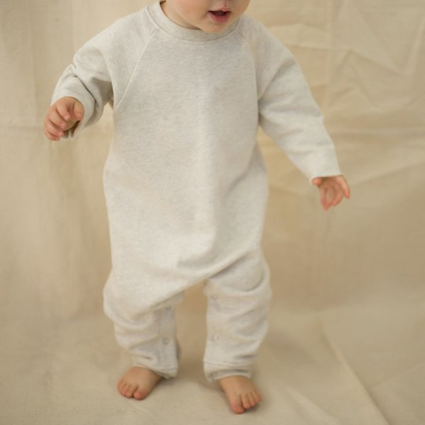 Kids Feather Drum Sweater Romper - Marle