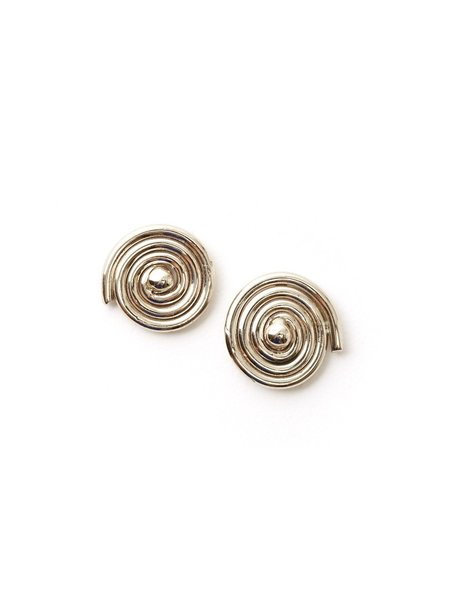 We Who Prey Medium Radial Spiral Earrings