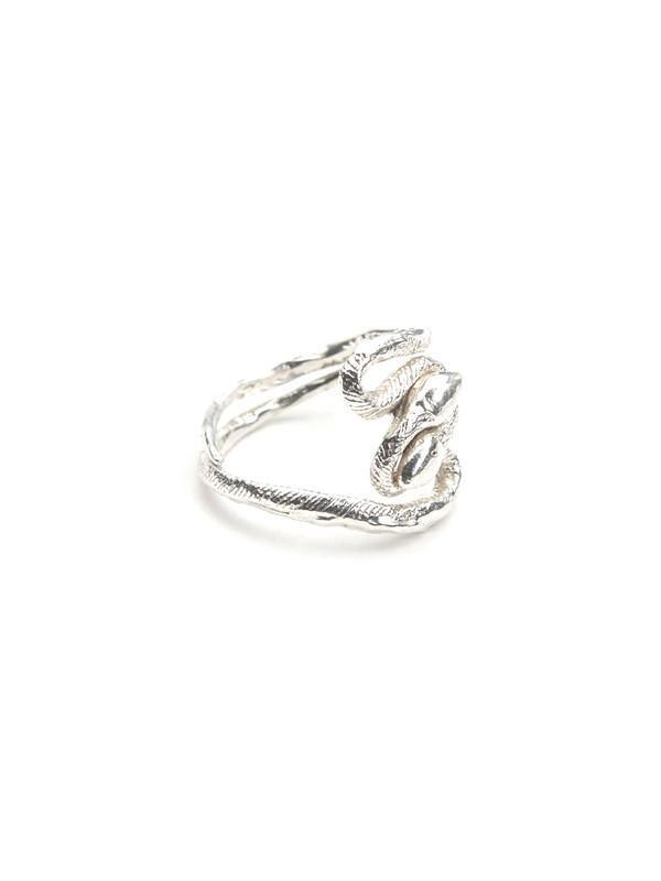 Prey Wedding Ring.We Who Prey Twisted Snakes Midi Ring Sterling Silver