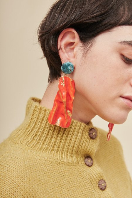 Rachel Comey Collision Earrings - Red
