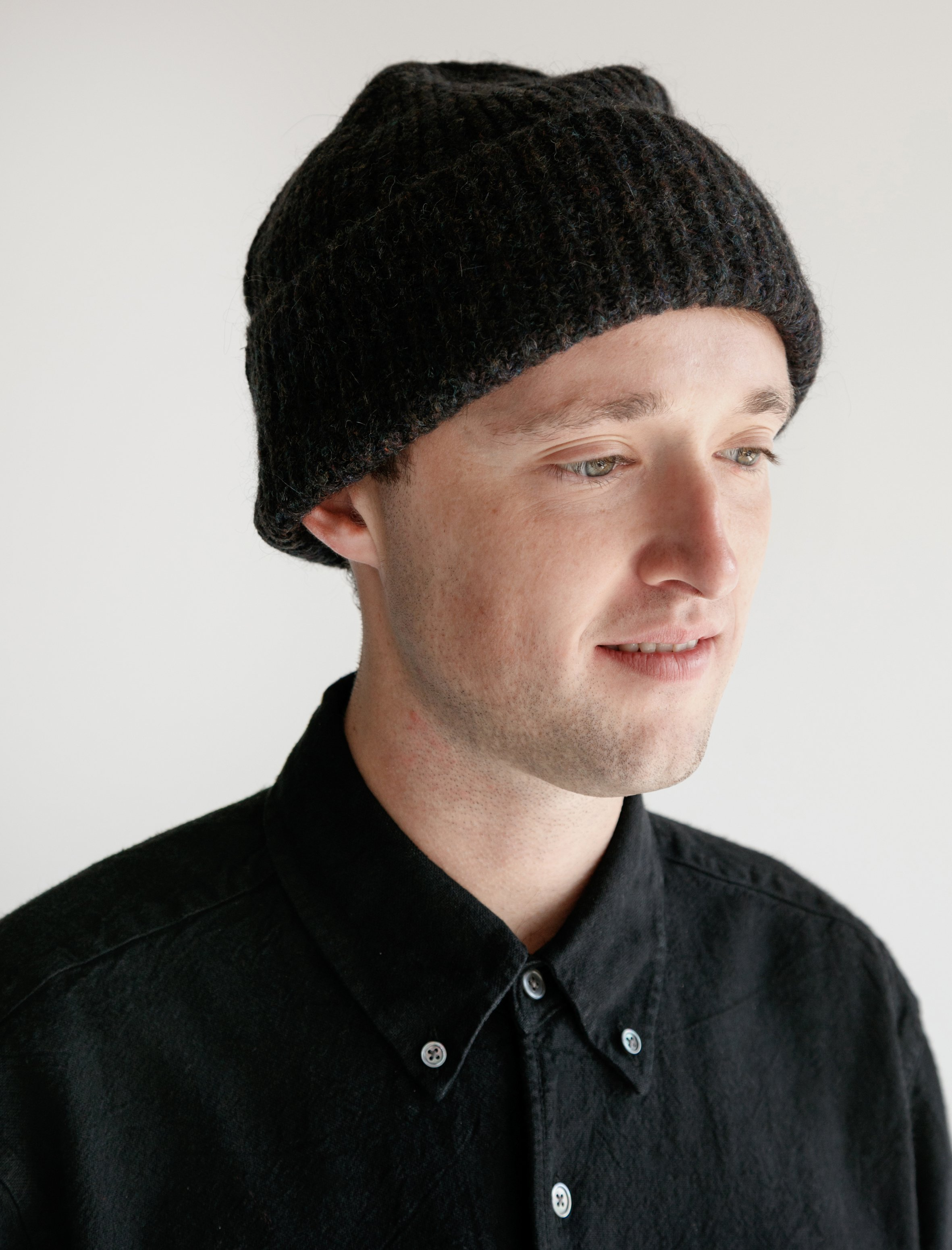 f41a6a358 Our Legacy Knitted Hat - Tweed Black
