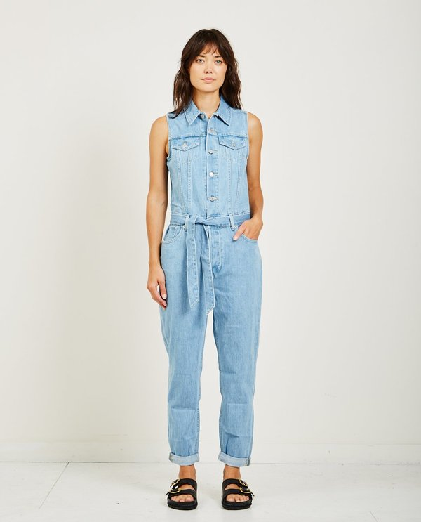 60421e2f71 Levi s TAPER JUMPSUIT - LIGHT BLUE