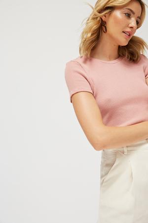 Lacausa Sweater Rib Baby Tee