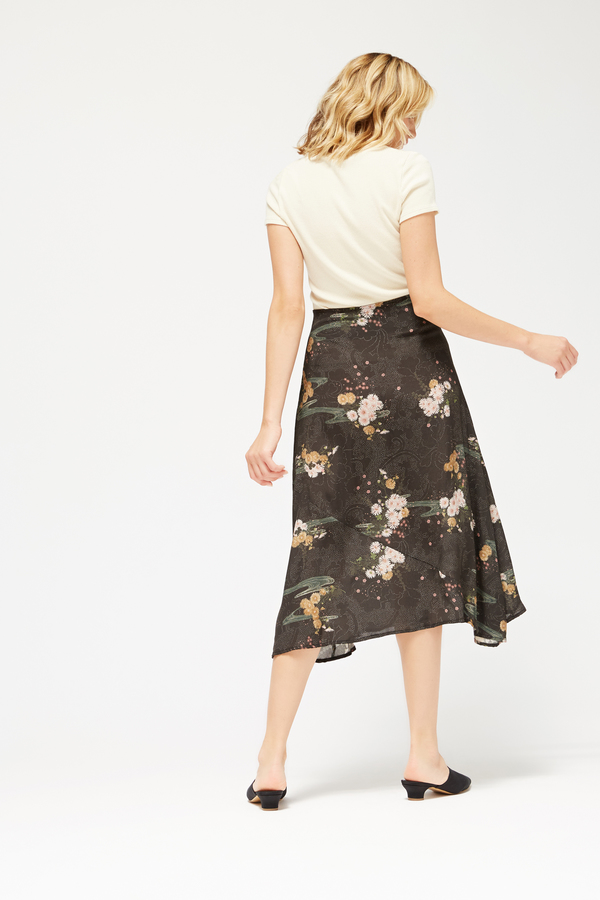 Lacausa Floral Midi Skirt