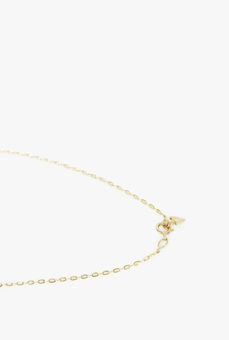 "Loren Stewart 16"" Baby Gucci Chain Necklace - 14K GOLD"