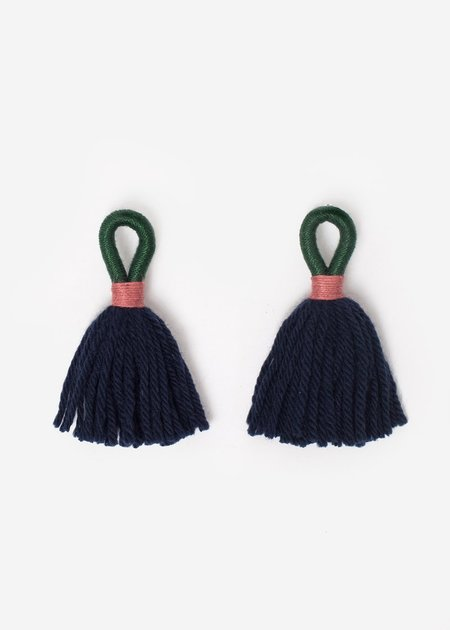 Talee Aru Earrings - Emerald/Navy