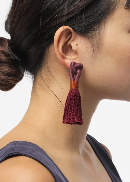 Talee Hati Earrings - Rose/Garden