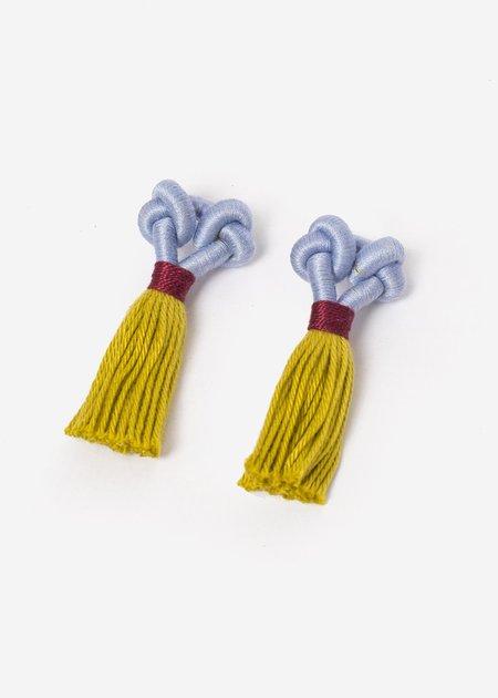 Talee Kupu Earrings - Tulip/Lemon