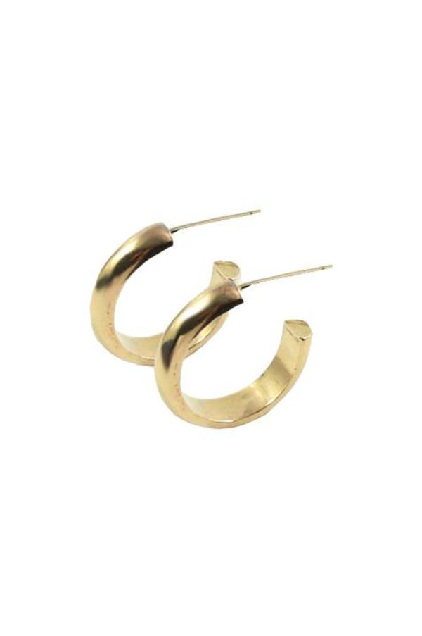 Merewif Jane Hoops - Gold Plated Brass