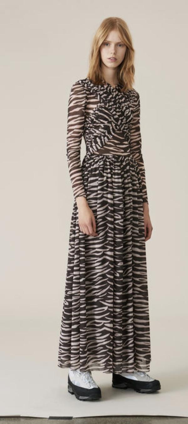 1d056e522ee Ganni Tilden Mesh Maxi Dress
