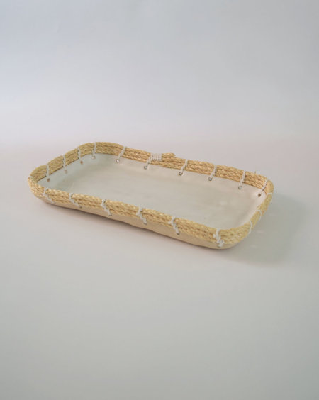 Karen Gayle Tinney Decorative Tray #533 - White