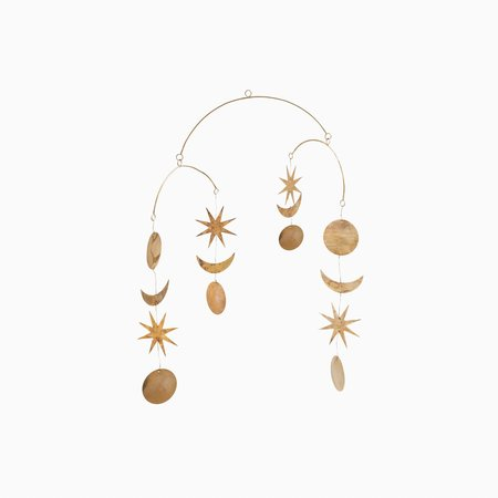CCO Star and Moon Mobile - Brass