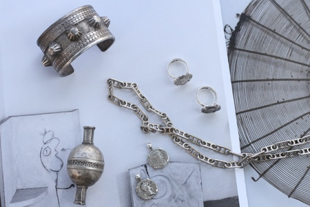 Vintage Alchemy Works Israeli Bracelets - Silver Metal