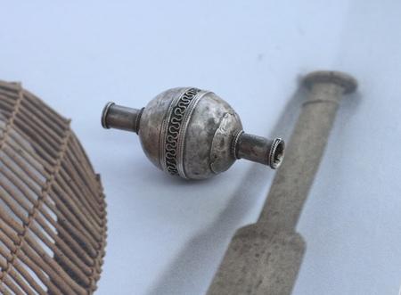Vintage Alchemy Works Trading Bead - Silver Metal
