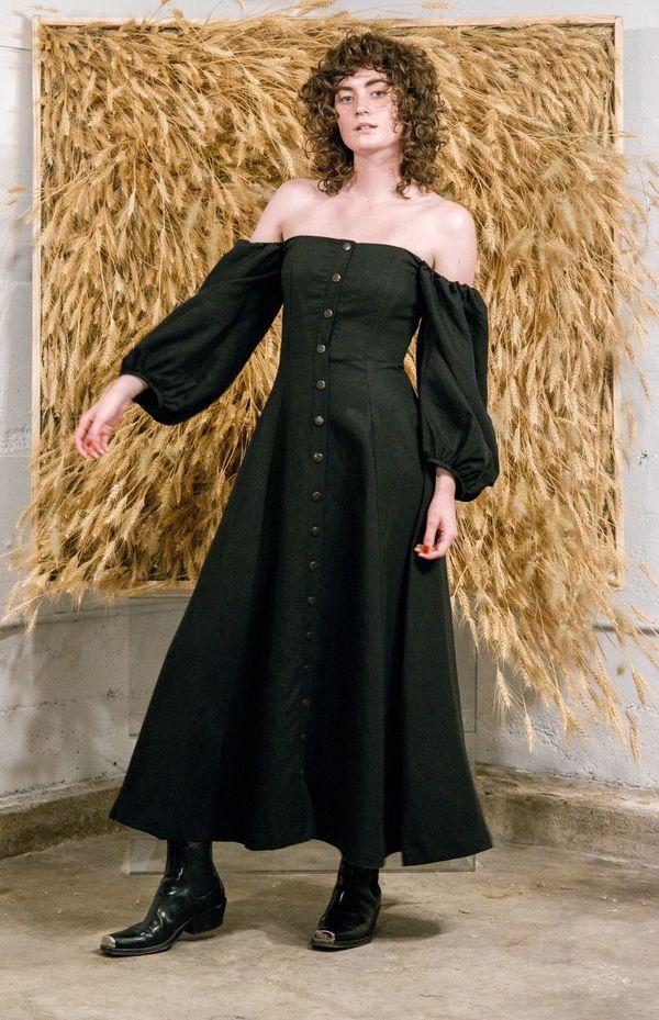 Mara Hoffman Marlow Dress Black Garmentory