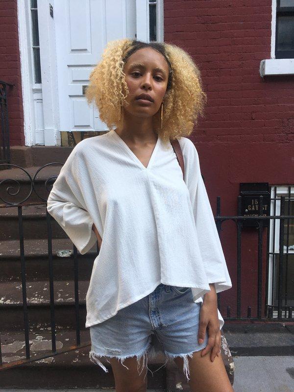 Miranda Bennett Textured Cotton Muse Top by Garmentory
